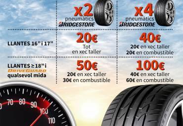 Fins a 100€ de regal Bridgestone (finalitzada)